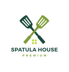 spatula house logo icon vector image