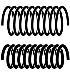 tension spring black symbols vector image