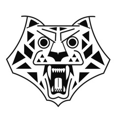 tiger head black on white logo vector image