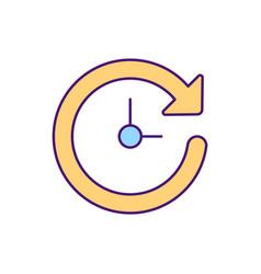 Time saving rgb color icon vector