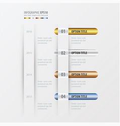 timeline design gold bronze silver blue color vector image