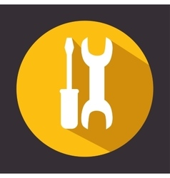 tools repair support icon design vector image