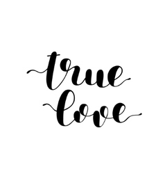 True love Brush lettering vector image