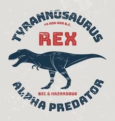 Tyrannosaurus rex t-shirt design print typography vector
