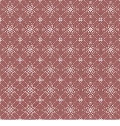 White Vintage Flowers On Dark Pink Background vector image