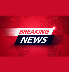 World global tv breaking news background vector