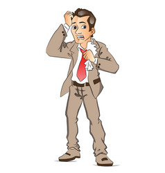 worried businessman vector image