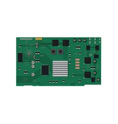 electric circuit board vector image vector image