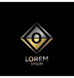 Letter O logo vector image vector image