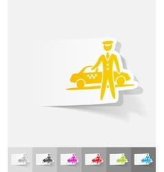 realistic design element the parking and taxi vector image