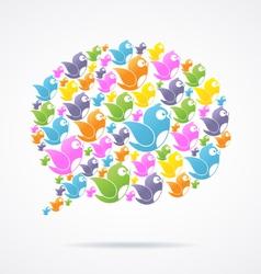 Social Media Communication vector image vector image