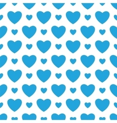 White background with blue hearts vector image vector image