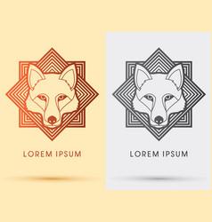 Wolf fox head face vector