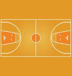 basketball field vector image vector image