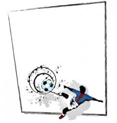 soccer border vector image vector image