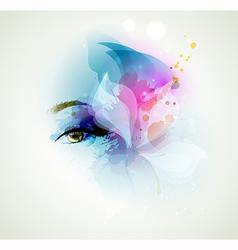 woman eye vector image vector image