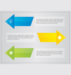 arrow with border text infographic vector image vector image