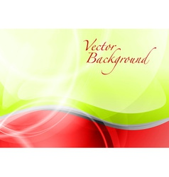background abstract red and green wave text vector image vector image