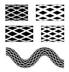 black seamless garden hose symbols vector image vector image