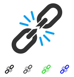 break chain link flat icon vector image vector image