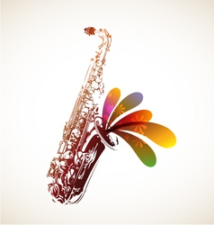 Colorful Sax vector image vector image