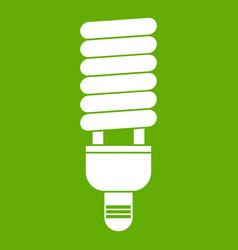 fluorescent bulb icon green vector image