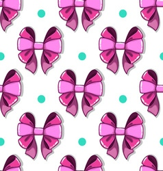 Seamless pattern cute cartoon bows vector image vector image