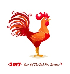 The Red Fire Rooster vector image