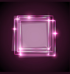 abstract background with pink squares banner vector image vector image