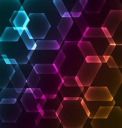 Bokeh blur with hexagons background vector image vector image
