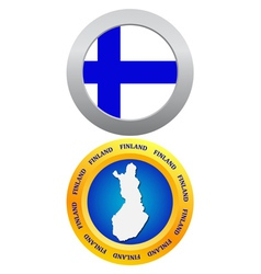 button as the character Finland vector image vector image