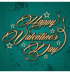 Retro Happy Valentines Day greeting vector image vector image
