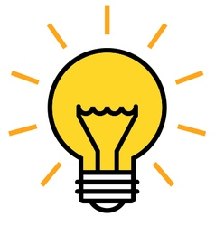 Shining light bulb icon vector image vector image