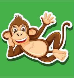 a simple monkey character vector image