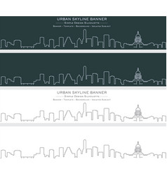 austin single line skyline banner vector image