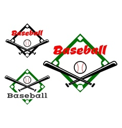 Baseball labels or badges vector image