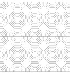 Black and white seamless geometric pattern with vector
