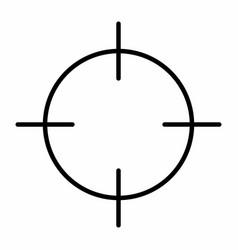 black target vector image