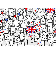 Cartoon people - english national day vector