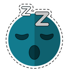 cartoon sleepy emoticon funny vector image