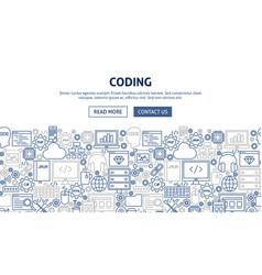 coding banner design vector image