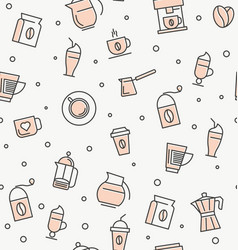 coffee and coffee equipment seamless pattern vector image