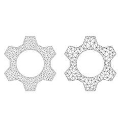 Cog icon - polygonal mesh vector