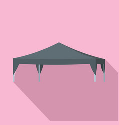 Commercial tent icon flat style vector