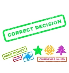 Correct Decision Rubber Stamp vector image