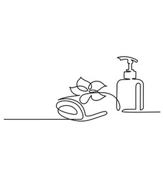 cosmetic beautiful flower with towel and bottle vector image