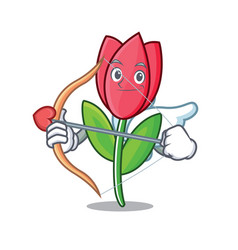 cupid tulip character cartoon style vector image