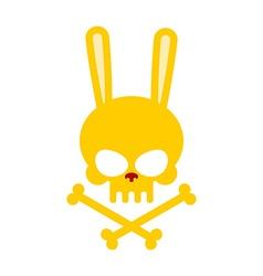 Cute rabbit skull with bones Good Honey Head vector image