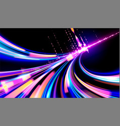 Cyberpunk light trails in vector