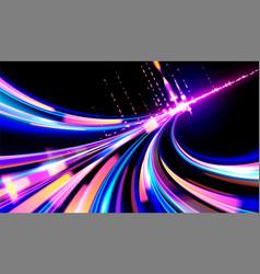 cyberpunk light trails vector image